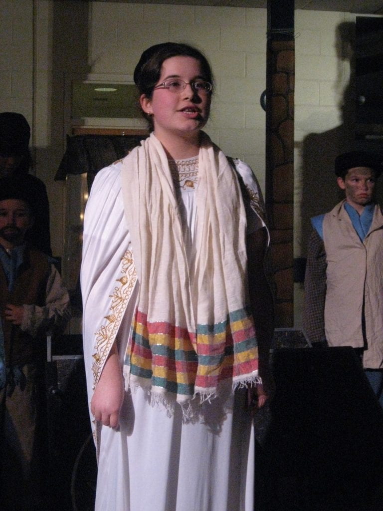 Mahalia as Rabbi in Fiddlers